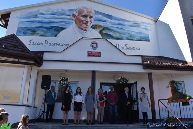 Mural Jana Pawła II w Sanoku