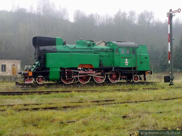 Zabytkowa lokomotywa na stacji Zagórz. Fot. Czachor, Wikimedia/Commons