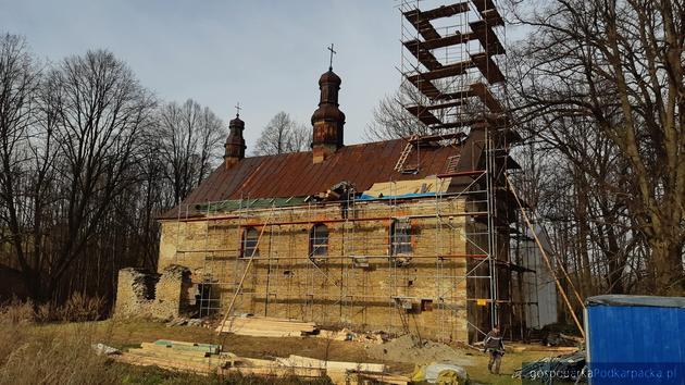 Królik Wołoski: remont cerkiew fot. Marcin Włóczykij Facebook