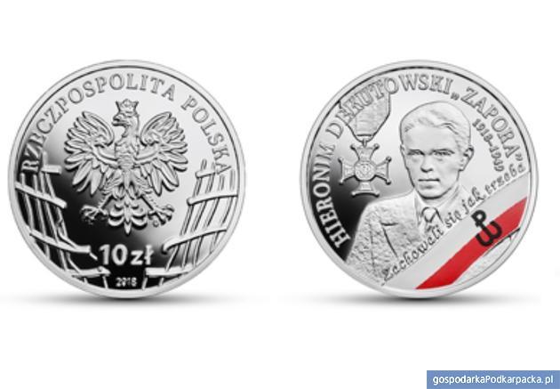 """Hieronim Dekutowski """"Zapora"""" na monecie kolekcjonerskiej NBP"""