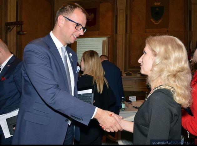 Od lewej Wojciech Bakun i Monika Czuryk