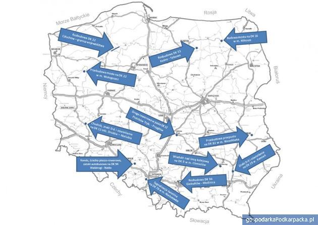 Nowe inwestycje drogowe na Podkarpaciu zatwierdzone przez Ministerstwo Infrastruktury