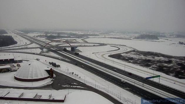 Widok na autostradę A4 węzeł Rzeszów-Zachód. Fot. GDDKiA
