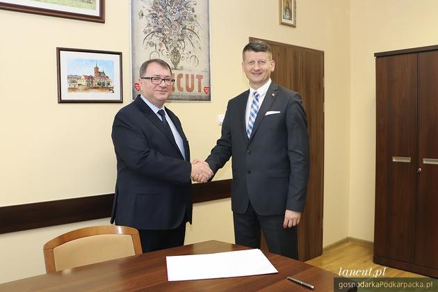 Od lewej Adam Hadław i Rafał Kumek