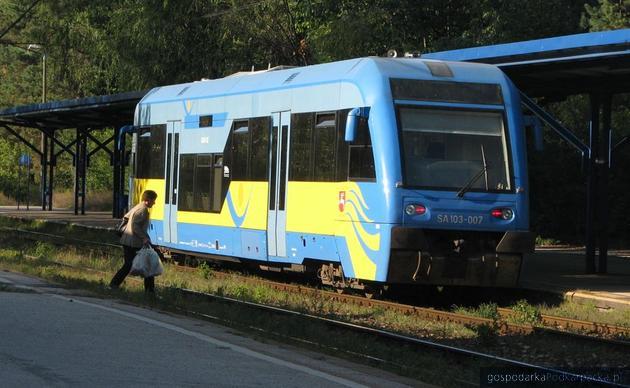 Lubelski szynobus na stacji Stalowa Wola-Rozwadów, fot. Adam Cyło