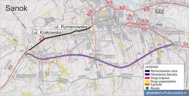 Remont ulic Krakowskiej i Rymanowskiej w Sanoku. Umowa podpisana