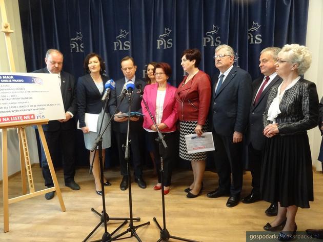 Kandydaci i politycy Prawa i Sprawiedliwości. Fot. Mateusz Romankiewicz