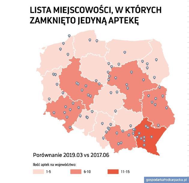 Apteki na Podkarpaciu w 2016 r.