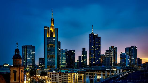Frankfurt - centrum gospodarcze Niemiec. Fot. Pixabay/CC0