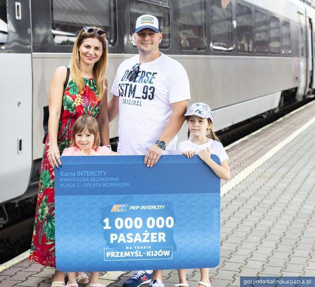 Milionowy pasażer pociągu Przemyśl-Kijów