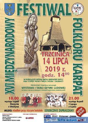 XVI Międzynarodowy Festiwal Folkloru Karpat w Trzcinicy