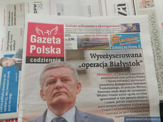 Sienko zamiast Truskolaskiego w Gazecie Polskiej Codziennie