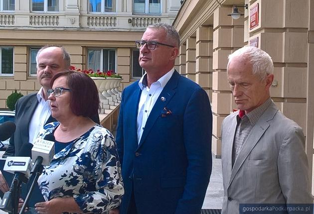 Od lewej Krzysztof Feret, Renata Butryn, Marek Rząsa i Andrzej Dec