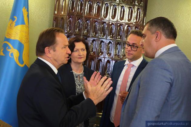 Spotkanie marszałka i wojewody z władzami Obwodu Lwowskiego