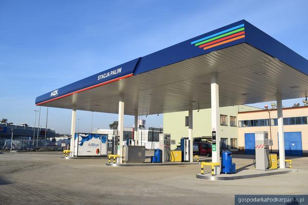 Miejska stacja paliw w Stalowej Woli. Fot. MZK Stalowa Wola