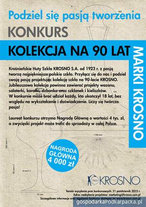 """Konkurs """"Kolekcja na 90 lat marki Krosno"""""""