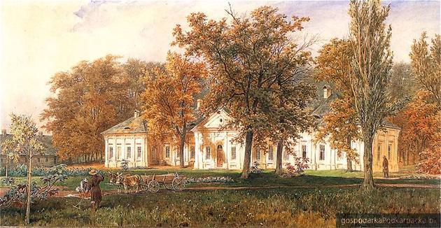 Pałac Czartoryskich w Sieniawie, Juliusz Kossak, 1873 r. Zbiory Czartoryskich, Kraków