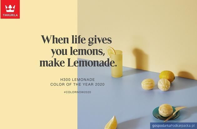 H300 Lemonade kolorem roku 2020 według Tikkurila