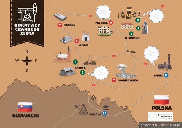 """Nowy szlak turystyczny na Podkarpaciu """"Odkrywcy czarnego złota"""""""