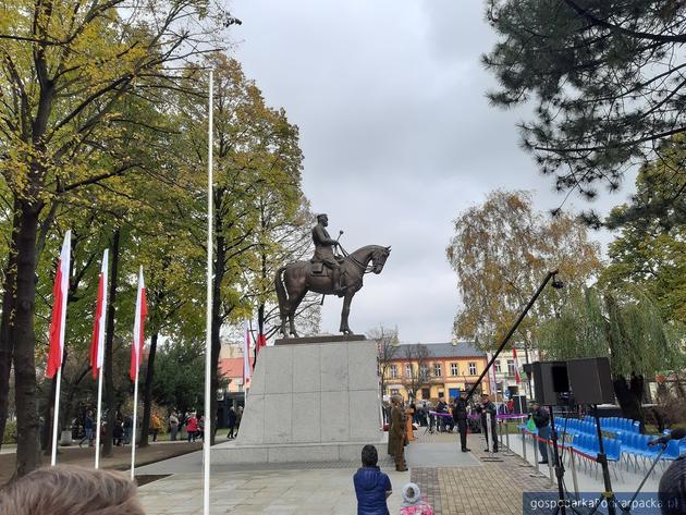 Oficjalnie odsłonięcie pomnika Józefa Piłsudskiego w Rzeszowie