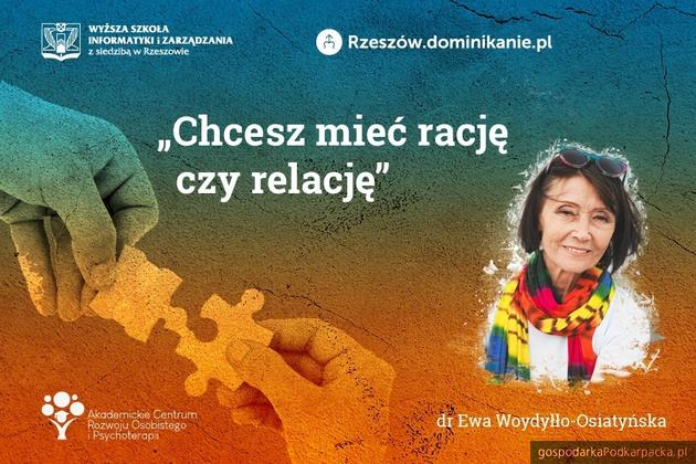 Kolejne spotkanie z dr Ewą Woydyłło-Osiatyńską na WSIiZ