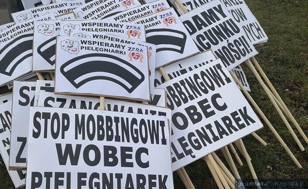 Manifestacja pielęgniarek w Rzeszowie