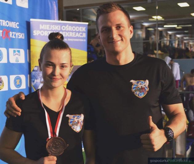 Dominika Kulaga i trener Kacper Fara