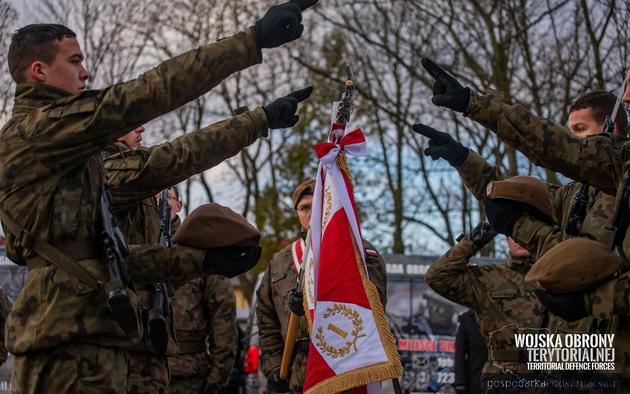 Przysięga Wojsk Obrony Terytorialnej w Kolbuszowej