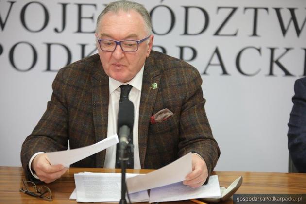 Jerzy Borcz, przewodniczący sejmiku województwa podkarpackiego. Fot. Michał Mielniczuk