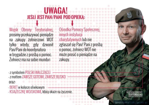 """Uwaga! Oszustwa na """"żołnierza WOT"""""""