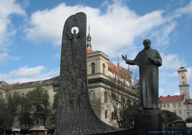 Pomnik Tarasa Szewczenko we Lwowie. Fot. Adam Cyło