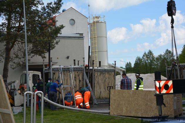 Wymiana membran w oczyszczalni ścieków w Głogowie Małopolskim
