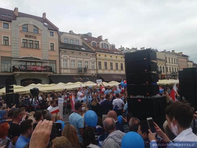 Rafała Trzaskowskiego na rzeszowskim Rynku