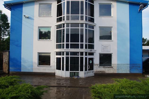 Chmielnik Zdrój, producent wody Alfred zalany
