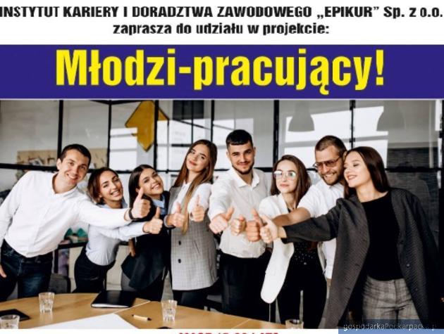 """Bezpłatne szkolenia i płatne staże. Projekt """"Młodzi-pracujący"""""""