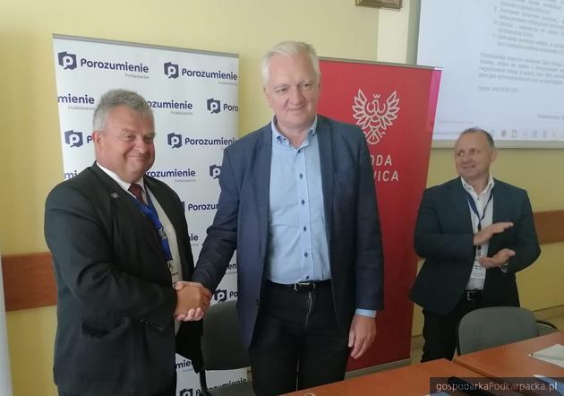 Od lewej Stanisław Kruczek i Jarosław Gowin.