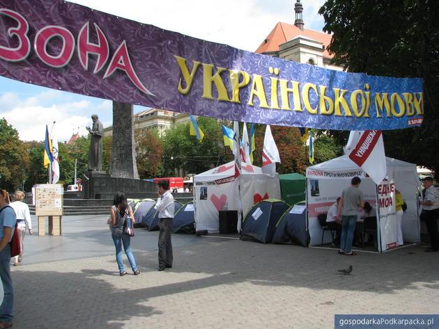 Kampania wyborcza na Lwowie. Fot. Adam Cyło