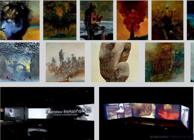 """Wystawa """"Beksiński. Nieznane obrazy"""" w Millenium Hall"""