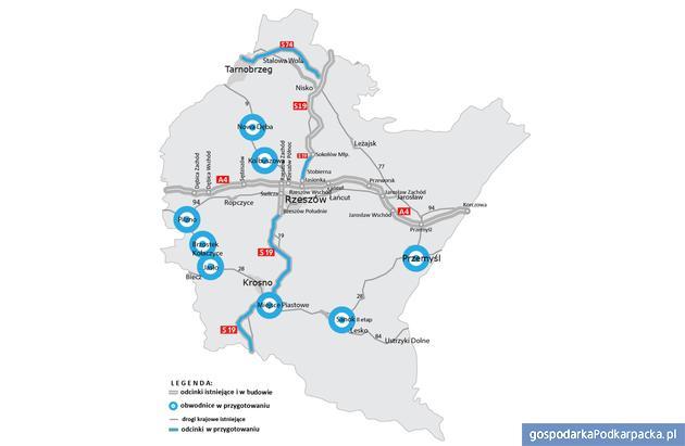 Przygotowania do budowy dróg ekspresowych i obwodnic na drogach krajowych na Podkarpaciu. Źródło GDDKiA