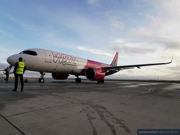 Dziś pierwszy odbył się pierszwy lot Wizz Air do Jasionki i z Jasionki