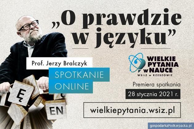 """""""O prawdzie wjęzyku"""" - Spotkanie zprofesorem Jerzym Bralczykiem"""