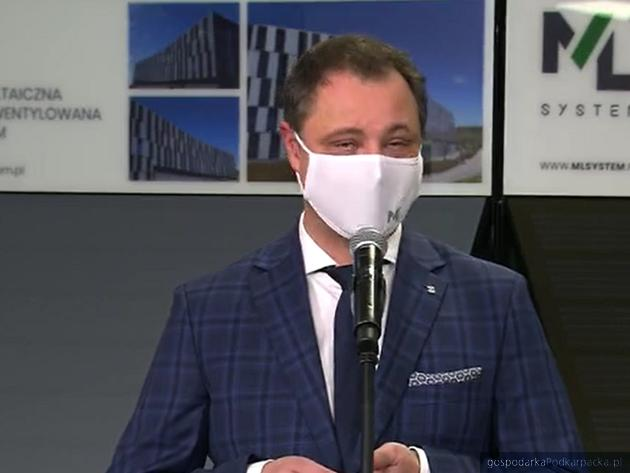 Dawid Cycoń, prezes ML System. Fot. prezydent.pl