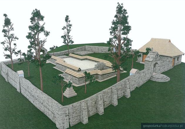 Cerkwisko w Moczarach: wizualizacja projektu. Fot. horyniec-zdroj.pl