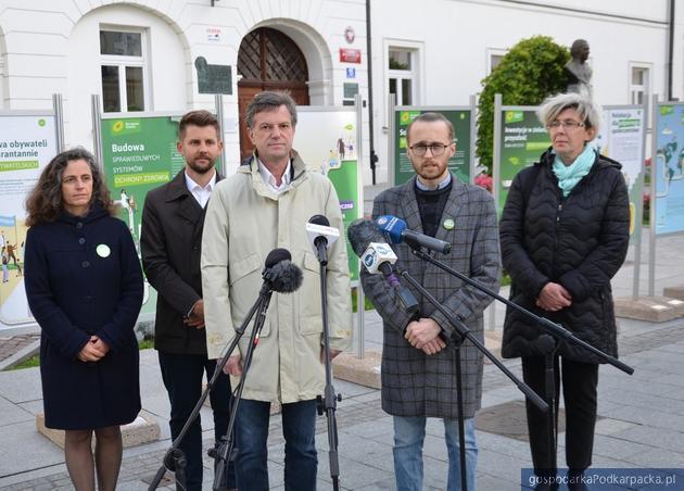 Partia Zielonych prezentowała Zielony Ład w Rzeszowie