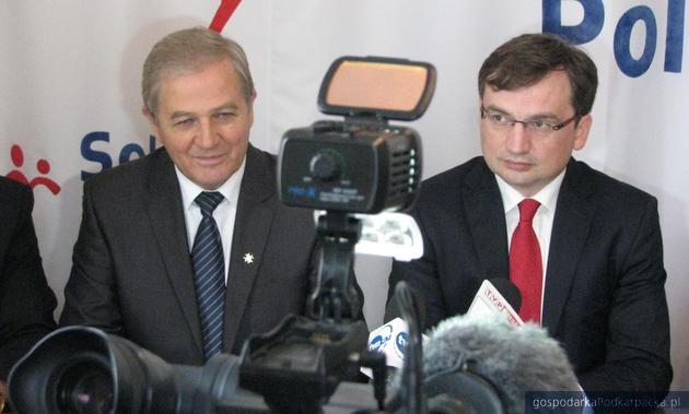 Od lewej Kazimierz Ziobro i Zbigniew Ziobro. Fot. Adam Cyło