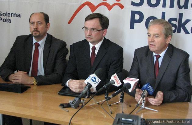 Od lewej Mieczysław Golba, Zbigniew Ziobro i Kazimierz Ziobro. Fot. Adam Cyło
