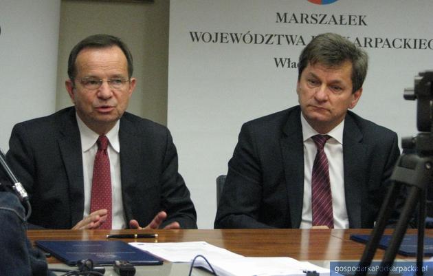 Od lewej marszałek Władysław Ortyl i prezes Hawe Krzysztof Witoń. Fot. Adam Cyło