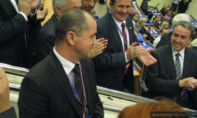 Poseł Zbigniew Rynasiewicz na regionalnym zjeździe PO na Podkarpaciu. Fot. Adam Cyło