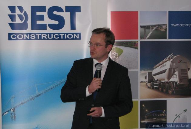 Michał Misterski z Cemex Infrastruktura. Fot. Adam Cyło