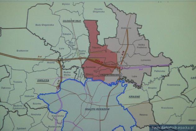 Mapa z proponowanymi zmianami. Fot. Adam Cyło